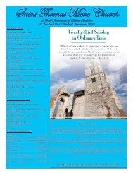 September 8, 2013 - St. Thomas More Catholic Church