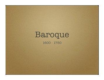 View the Baroque Slideshow - bauerstune