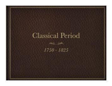 Classical Period - bauerstune