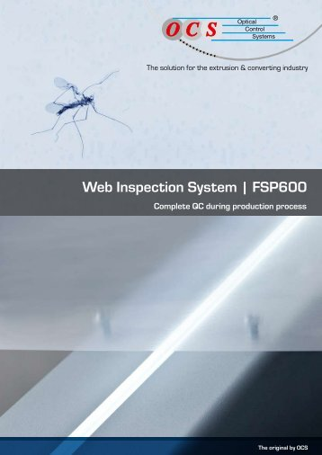 Web Inspection System | FSP600 - Optical Control Systems GmbH