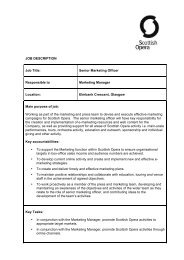 JOB DESCRIPTION Job Title: Senior Marketing ... - Scottish Opera
