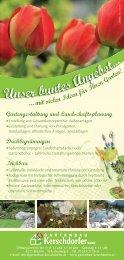 Unser buntes Angebot übers ganze Jahr! - Gartenbau Kerschdorfer