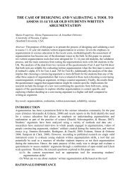 The case of designing and validating a tool to assess 11 ... - ESERA