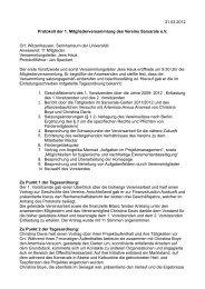 Protokoll Mitgliedervollversammlung 2012 - Sarsarale eV