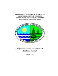 HSCA. This guidance manual - Delaware Department of Natural ...