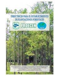 Directrices para el establecimiento de plantaciones forestales, 2003