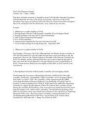 The IUGG Electronic Journal Volume 5 No. 7 (July 1, 2005 ... - FMI