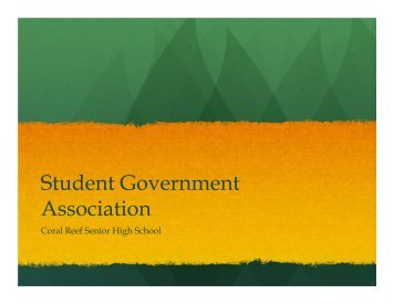 Informational Powerpoint - Coral Reef Senior High School
