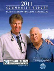 COMMUNITY REPORT - North Florida Regional Medical Center