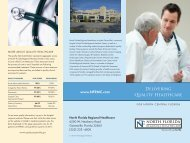 Quality Healthcare Trifold - North Florida Regional Medical Center