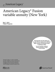 American Legacy® Fusion variable annuity - Lincoln Financial Group