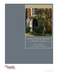 Lincoln Financial Network University System - Lincoln Financial Group