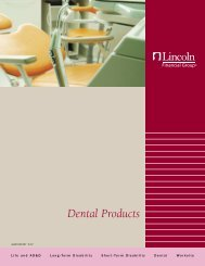 Dental Products - Lincoln Financial Group