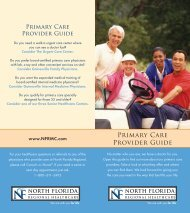 Download Primary Care Provider Guide - North Florida Regional ...