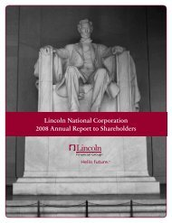 2008 Annual Report to Shareholders - Lincoln Financial Group