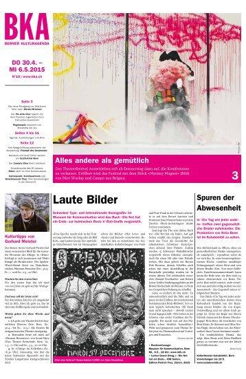 Berner Kulturagenda 2015 N° 18