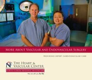 About Vascular and Endovascular Surgery - North Florida Regional ...