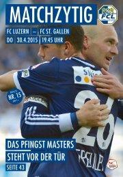 FC LUZERN Matchzytig N°15 14/15 (RSL 30)