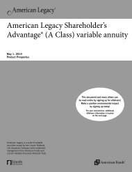 American Legacy Shareholder's Advantage - Lincoln Financial Group