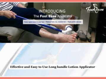 Effective and Easy to Use Long handle Lotion Applicator