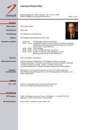 CV Norbert Riedl als PDF-Download - 2consult