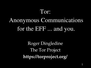 Tor - The Free Haven Project