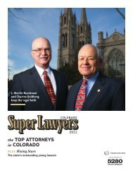 the Top aTTorneys in Colorado