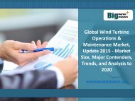 Global Analysis on Wind Turbine Operations & Maintenance Market 2015-2020