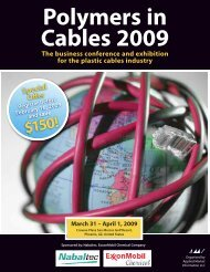 Polymers in Cables 2009 CONFERENC - Optical Control Systems ...