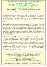 18-a Ekumena Esperanto-Kongreso (EEK) 21- 28 Julio 2007 ... - IKUE