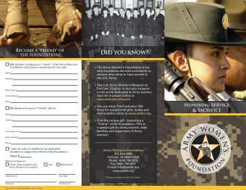 download and print the Foundation's brochure - Army Women's ...