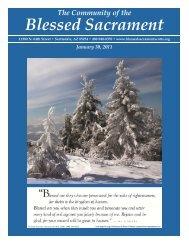 January 30, 2011 - The Catholic Community of the Blessed Sacrament