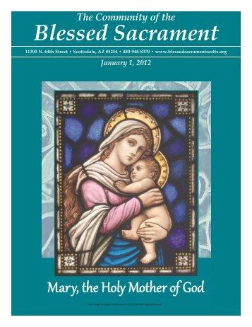 January 1, 2012 - The Catholic Community of the Blessed Sacrament