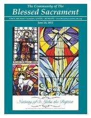June 24, 2012 - The Catholic Community of the Blessed Sacrament