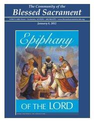 January 8, 2012 - The Catholic Community of the Blessed Sacrament