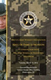 View the Hall of Fame Luncheon Invitation - Army Women's ...
