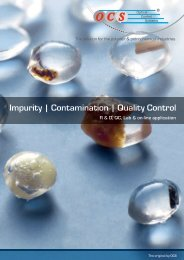 Impurity | Contamination | Quality Control - Optical Control Systems ...