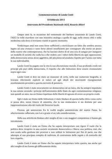 Visualizza L'intervento del Presidente Altieri - Agci