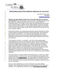Setting Measurable Public Relations Objectives for Law Firms