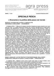 Speciale Pesca (28 febbraio 2012) - Agrapress