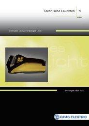 9 Technische Leuchten