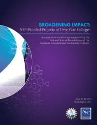 Broadening Impact Conference Report - American Association of ...