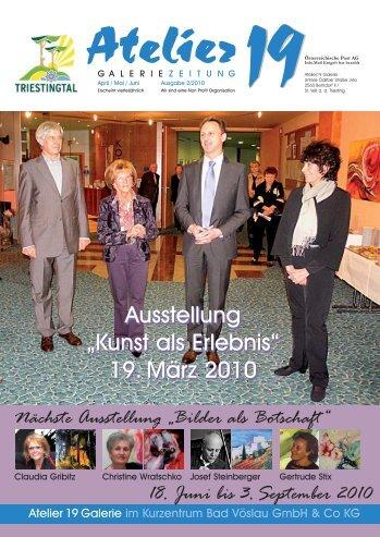 """Ausstellung """"Kunst als Erlebnis"""" 19. März 2010 ... - Atelier 19"""