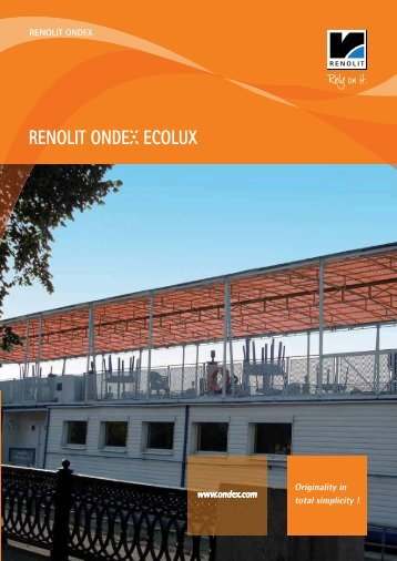 RENOLIT ONDEX ECOLUX - Catalogue - ondex