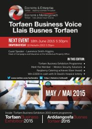 Torfaen Business Voice Newsletter - May 2015 Edition