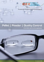 Pellet | Powder | Quality Control - Optical Control Systems GmbH