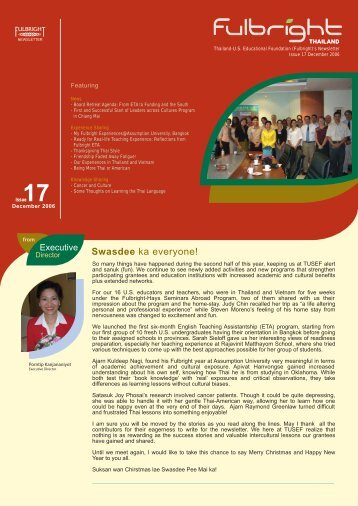 Download This Newsletter - Thailand - United States Educational ...