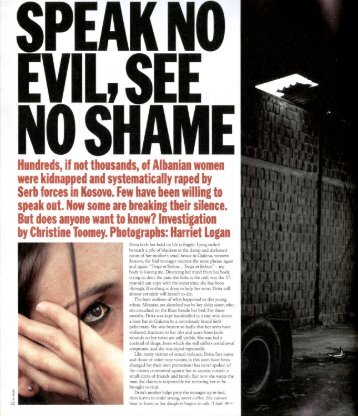 SPEAK NI EVIL, SEE NI SHAME - Christine Toomey