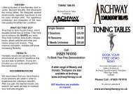 to download toning table brochure - Archway Complementary ...