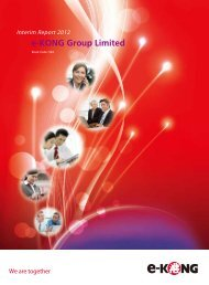Interim Report 2012 - e-KONG Group Limited